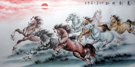 ฮวงจุ้ยธุรกิจ, รูปภาพกับฮวงจุ้ย, ฮวงจุ้ยรูปภาพ, จัดบ้านด้วยรูปภาพ, ม้าเหงื่อโลหิต