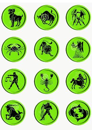 เมษ, พฤษก, เมถุน, กรกฎ, สิงห์, กันย์, ตุลย์, พิจิก, ธนู, มังกร, กุมภ์, มีน